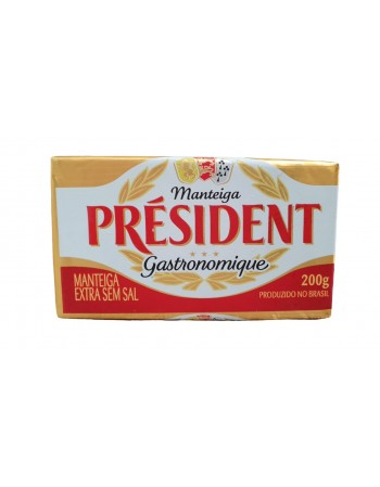 MANTEIGA PRESIDENT S/ SAL TABLETE 200G