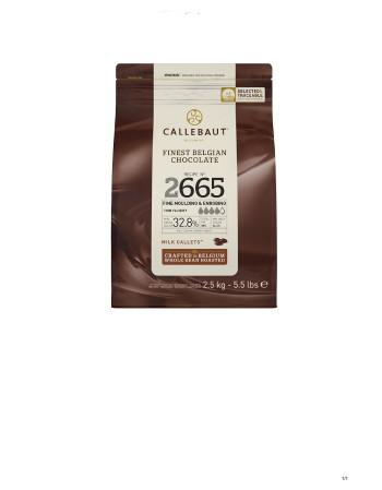CHOCOLATE AO LEITE CALLEBAUT GOTAS 32,8 % 2,5 KG